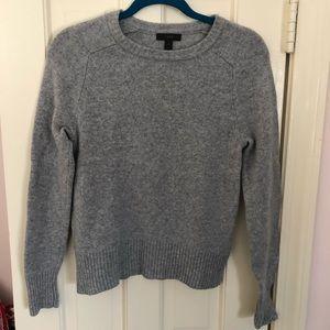 J.Crew 100% Wool Grey Crew Neck Sweater